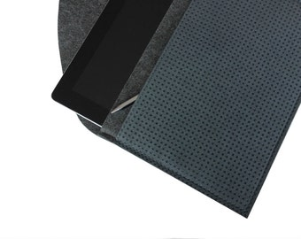 grey cover for iPad Pro 9.7,  felt-Alcantara tablet protection, tailor-made bag for iPad Pro 9.7 including Apple Keyboard, case for iPad Air