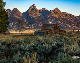 Wyoming, Grand Teton Art, Barn Photography, Mormon Row Art, Grand Tetons, Moulton Barn, Moulton Barn Print, Picture of Tetons, Barn Art