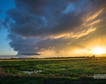Great Plains Print, Sunset Art, Storm Cloud, Sunshine Print, Landscape Picture, Print Sunset, Storm Sunset, Sky Art, Sky Cloud, Plains Art