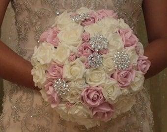 Wedding bride brooch posy