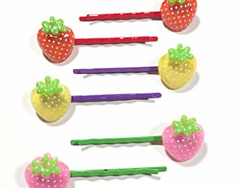Kawaii Strawberry hair pins