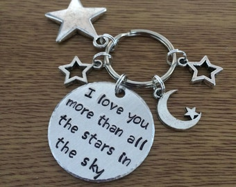 I Love You More Than All The Stars In The Sky Keychain