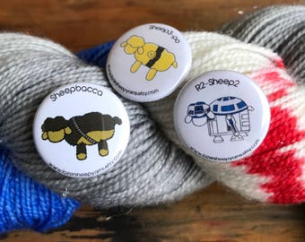 Star Wars Sidekicks Button Set of 3!