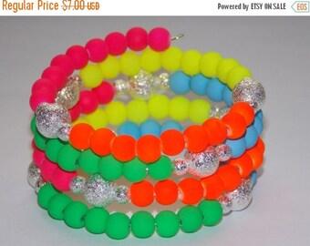 15%OFF Girls Rainbow and Silver Stardust Wrap Bracelet