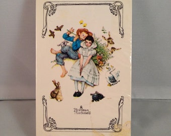 """Vintage Artist Norman Rockwell Single Deck Playing Cards """"Sweet Song So Young"""""""