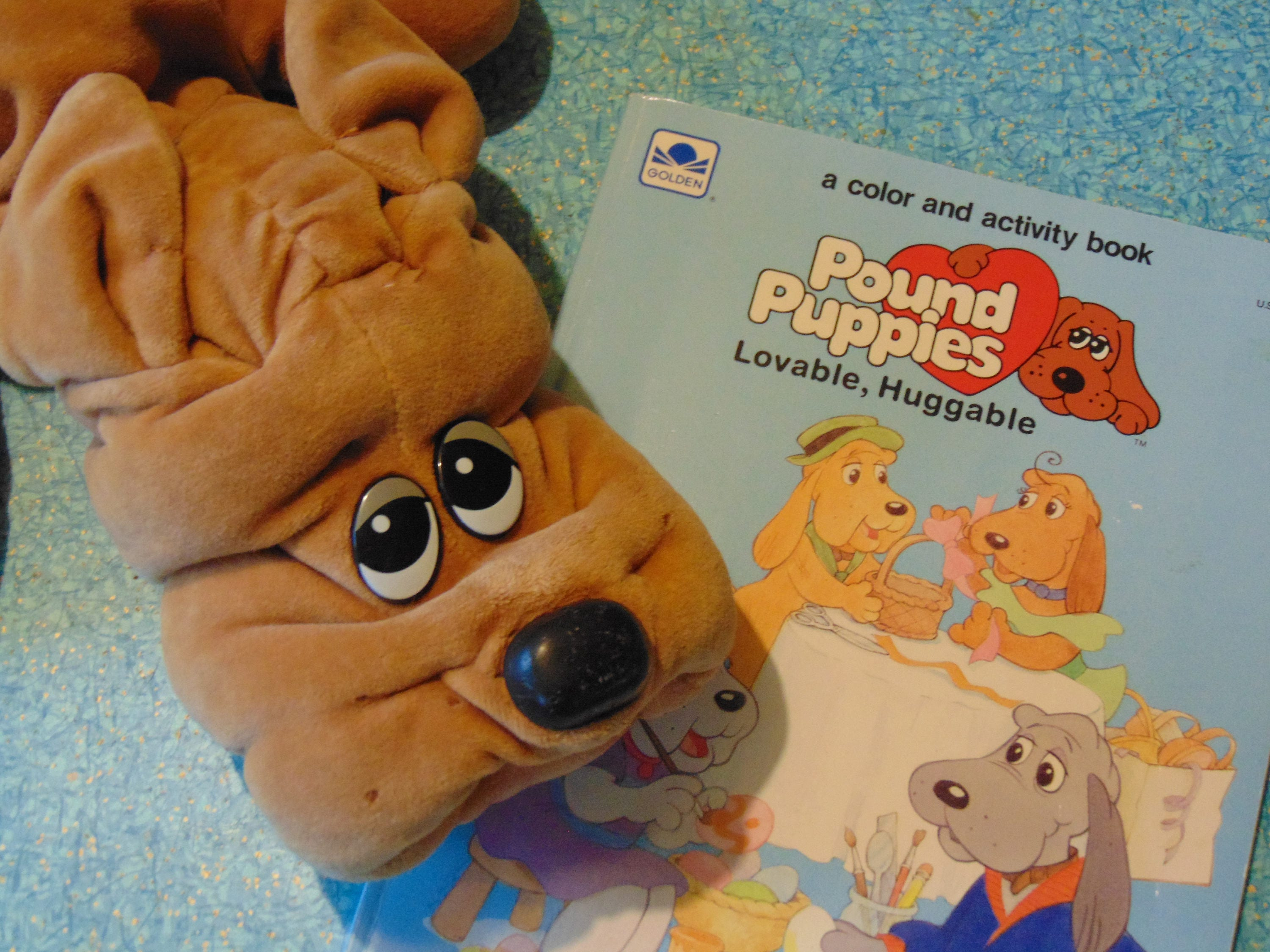 Pound Puppies Pound Puppy Coloring Book Stuffed Animal 80s