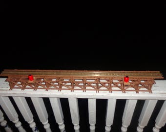 Scratchbuilt model railroad trestle   code 100 rail