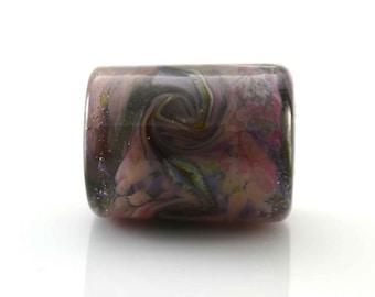 Purple Twist Handmade Glass Lampwork Bead