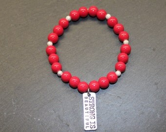 Elastic bracelet '' force in red. ''