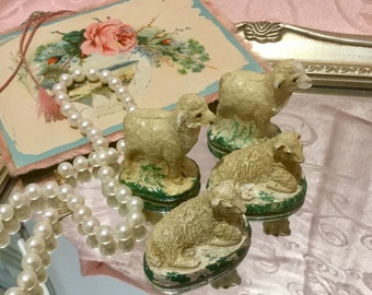 Darling Chippy, Antique Sheep figurines