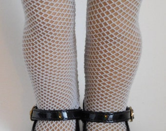 White Fishnet Tights for 18 inch Girl Doll, American Made Perfect Fit Hose, Fish Net stockings, holiday Easter outfit, Color Options