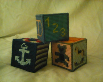 Handmade baby toy blocks