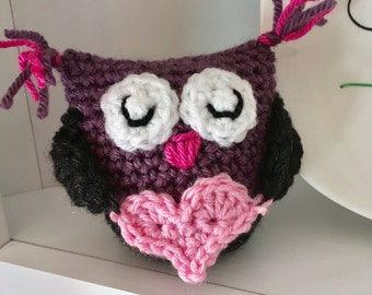 Who Loves You?  I do! Adorable Hand-Crochet Owl Owlette Doll Stuffed Animal