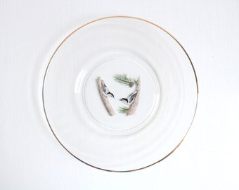 Bird Jewelry Dish, Bird Plate, Bird Dessert Plate, Glass Bird Dish, Glass Bird Plate, Bird Trinket Dish Bird Ring Dish Bird Saucer Ring Dish