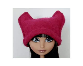 Pink Pussy hat for Ever After High Dolls