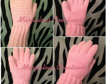 Bottoms up gloves crochet pattern