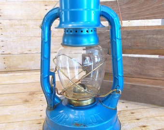 DIETZ Blue Lantern /Oil Lantern / Kerosene Lantern /Air Pilot / Blue Lantern / Dietz No 8 / Camping Equipment / Outdoor Lighting