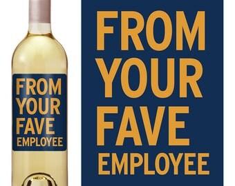 Boss Gift Wine Label - Boss Appreciation Gift - Boss Christmas Gift - Wine Label For Boss - Funny Wine Label - Boss Day