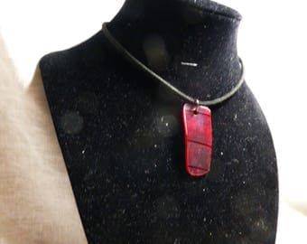 red vinyl record necklace