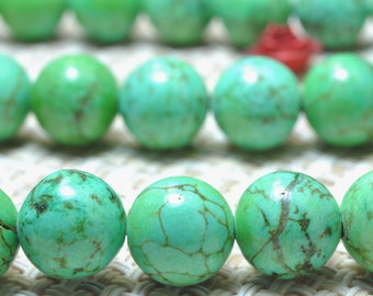 47 pcs of GreenTurquoise Smooth round beads in 8mm