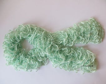 Ruffle scarf, Frilly scarf, Knitted scarf, Fashion scarf, Spring,  Winter Accesories, Spring Fashion, mint green, gifts, Mother's Day gifts