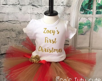First Christmas outfit, First Christmas tutu, My first Christmas tutu, My first Christmas outfit, baby girl first christmas outfit