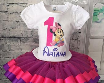 minnie mouse birthday, baby minnie mouse birthday, baby minnie mouse shirt, minnie mouse shirt, baby minnie mouse outfit