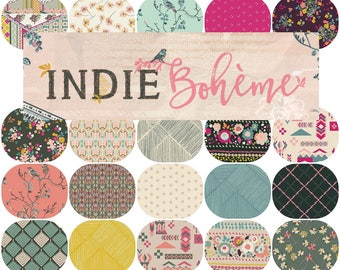 Fat Quarter Bundle(20) INDIE BOHEME By Pat Bravo for Art Gallery Fabrics Fat Quarters