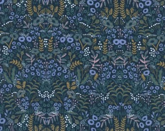 Pre-Sale- Tapestry in Navy -Menagerie -Anna Rifle Bond for Cotton + Steel