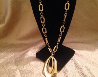 CROWN TRIFARI Modernist Pendant Necklace