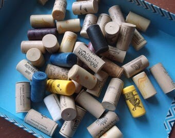 45 Assorted Synthetic Wine Corks Recycled Upcycled Crafts