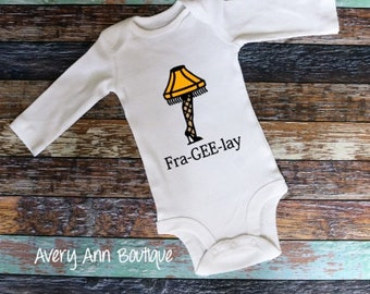 Christmas Story Lamp Outfit Bodysuit Baby Outfit Newborn Outfit Funny Baby Outfit Infant Outfit Toddler Fra gee lay Movie Quotes