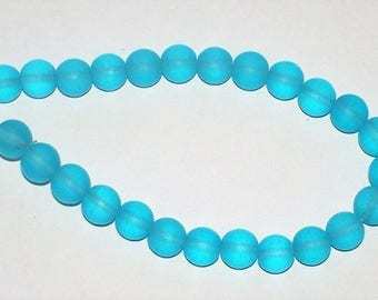 "Cultured  Turquoise Bay ""Sea Glass"" Rounds - 8MM"
