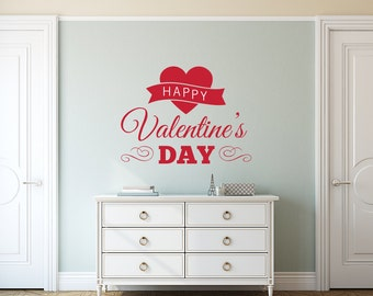 Happy Valentine's Day Wall Quote With Heart
