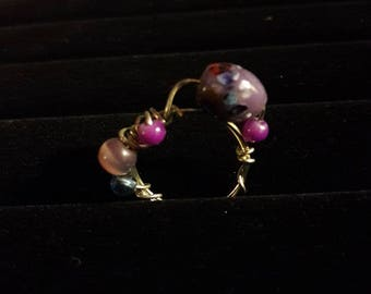 Handmade One of a kind wire wrapped ring