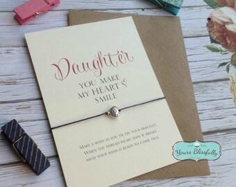 SALE DAUGHTER Friendship Bracelet, Daughter Gift, Daughter Birthday, Daughter Card, Daughter Bracelet, Daughter Love, Daughter Quote,