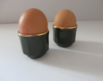 RESERVED. Apilco vintage 1980's  two egg cups