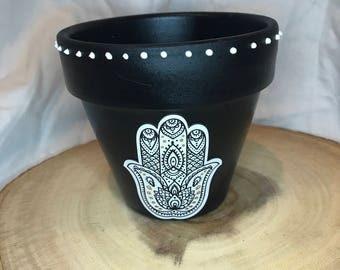 Hamsa plant pot