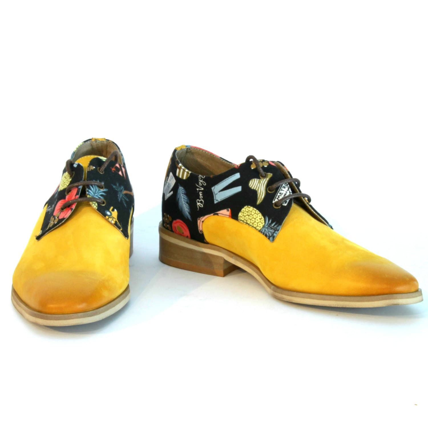 yellow oxford s shoes yellow leather shoes