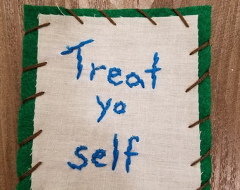 "Parks and Rec ""Treat Yo Self"" Patch"