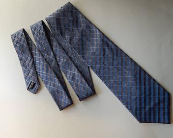 """58"""" Calvin Klein Silk Blue Brown Stripe Mens Necktie Neck Tie"""