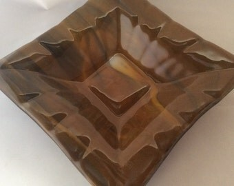 Fused Glass Square Bowl