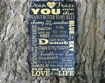2nd Anniversary Gift for Her, PERSONALIZED Second Anniversary Gift Wood Sign, You are the Love of my Life, You Are My Person Wall Decor