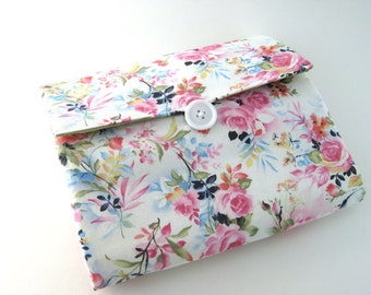 Makeup Bag Organizer | Cosmetic Bag | Makeup Case | Zipper Pouch | SPRING White Pink Floral| REISPEICES