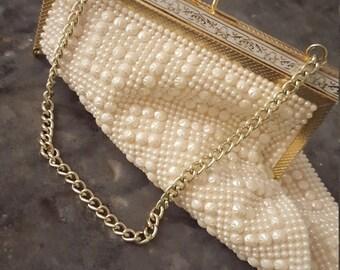 1950's Beaded Handbag /Clutch By ~Gluden Name~