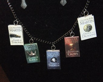 A Song of Ice and Fire Book Series Necklace - Great Gift for Book Lovers!