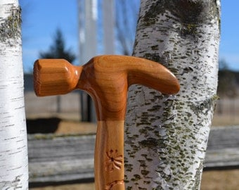 Cherry Hammer Walking Stick
