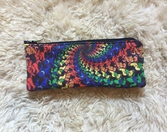 Long Grateful Dead Paint Brush Pencil Case, Zipper Pouch