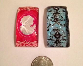 Glass Pendants Set of Two