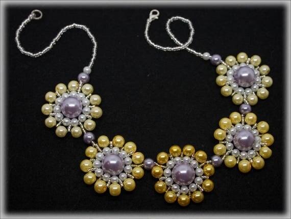 YelloSun necklace beading TUTORIAL